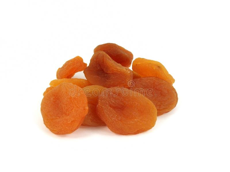 Dried apricot isolated stock photography