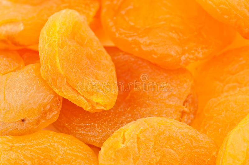 Dried apricot texture stock image