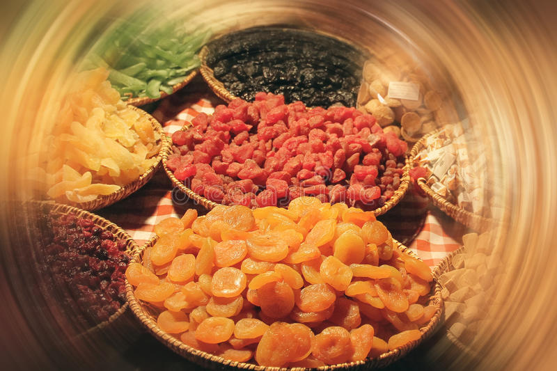 Download Dried Apricots In A Bowl With Beautiful Circle Stock Image - Image: 83722457