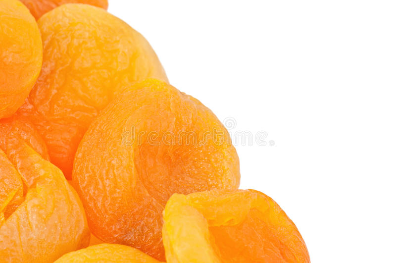 Dried apricots texture royalty free stock image