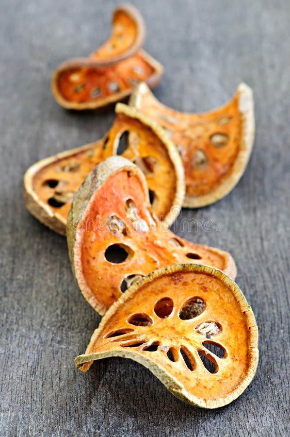 Dried Bael Fruit Royalty Free Stock Photo