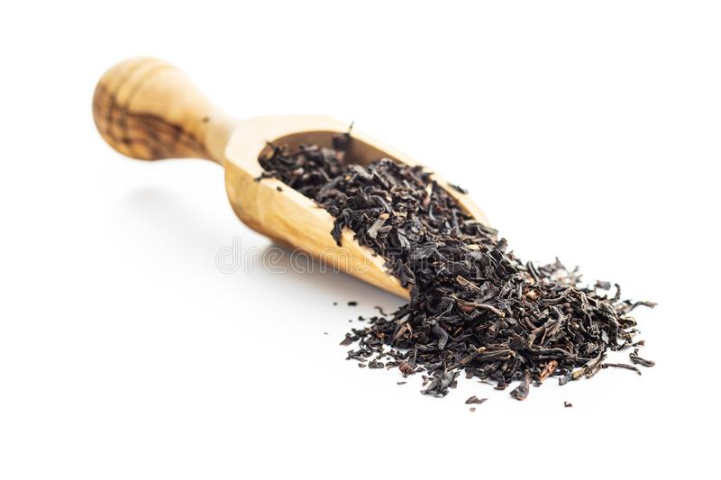 Dried black tea leaves royalty free stock images
