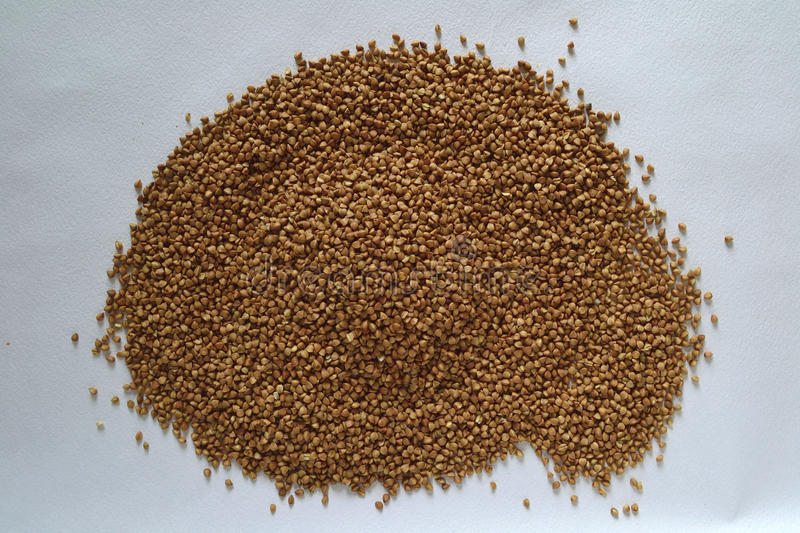 Dried buckwheat grains royalty free stock photo