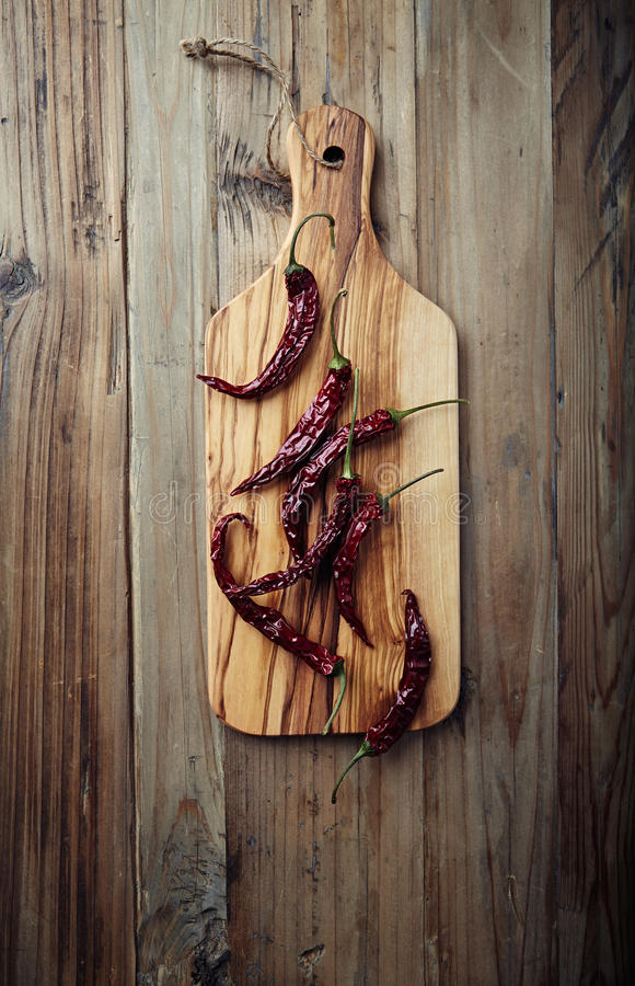Dried Chili Peppers Royalty Free Stock Photography