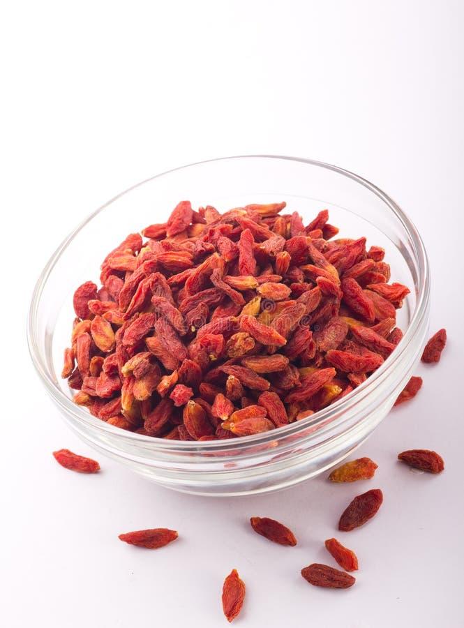 Dried Chinese Wolfberries Stock Photo