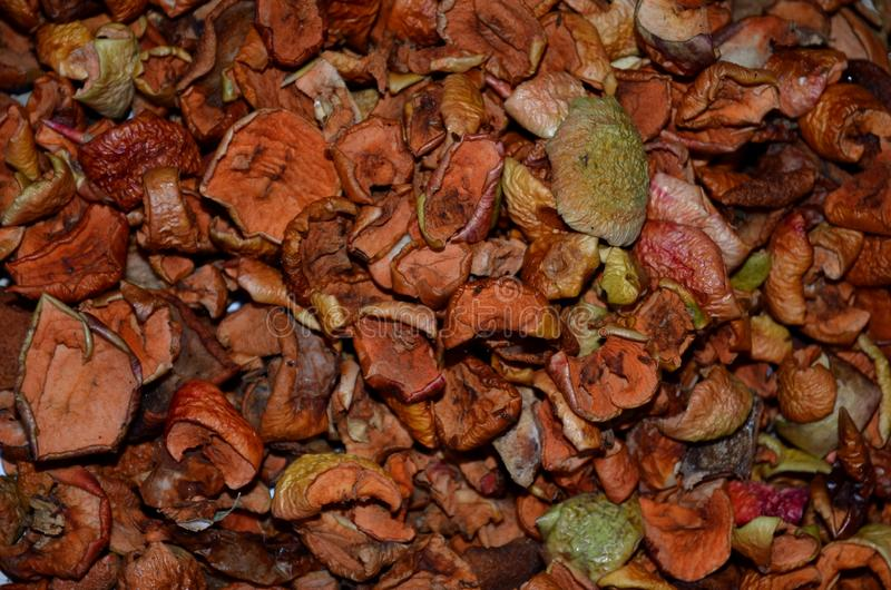 Dried chopped fruit for compote cooking. stock image