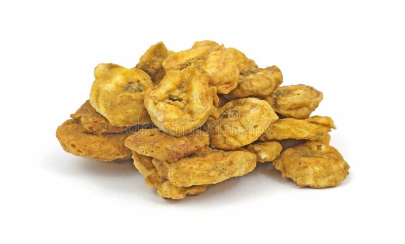 Dried Cinnamon Banana Chips Royalty Free Stock Photos