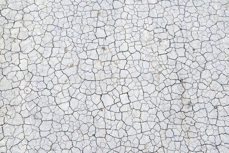 Dried clay. dry earth. cracks. stock photography