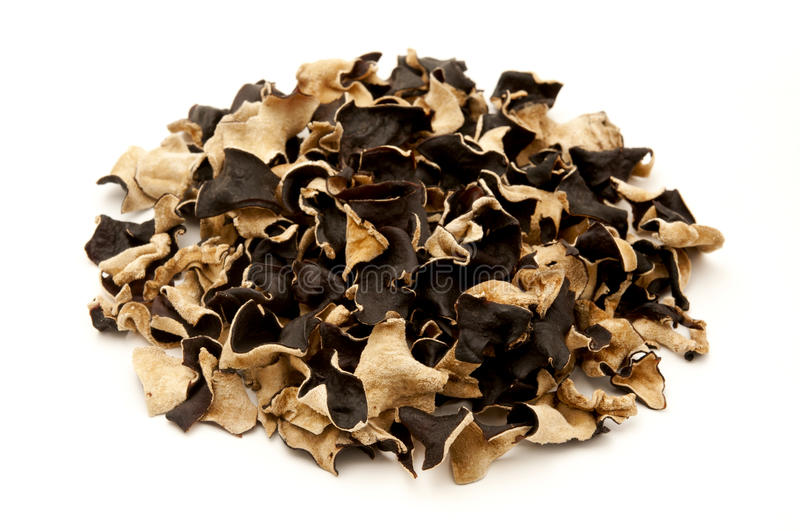 Dried cloud ear fungus stock images