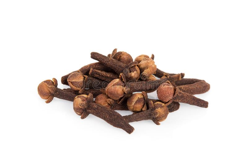 Dried cloves isolated on white royalty free stock photos