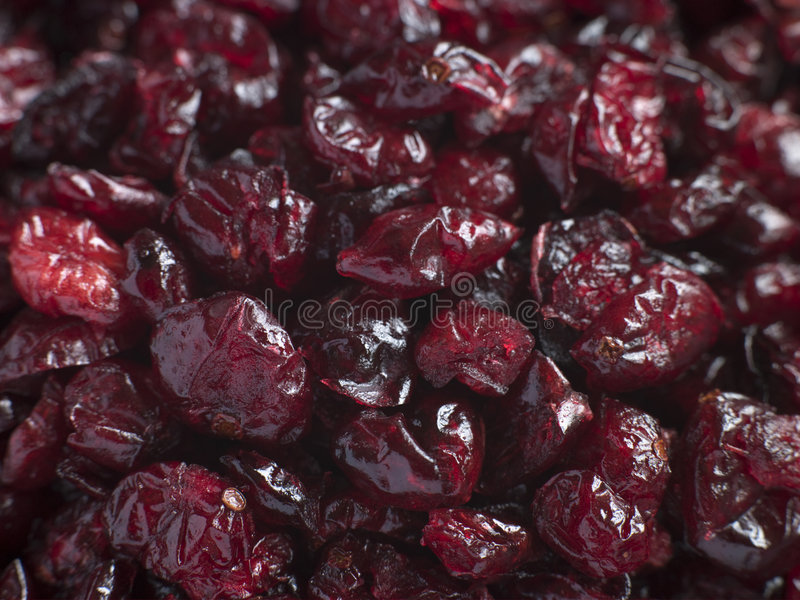 Dried Cranberries. Close Up Of Dried Cranberries stock photos