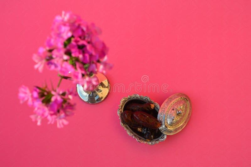 Dried dates - fruits of date palm Phoenix dactylifera royalty free stock photo