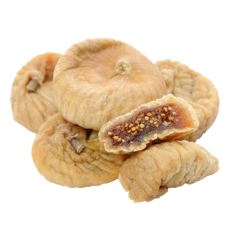 Dried Figs Isolated on White Background stock photography