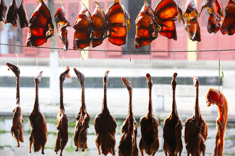 Dried Fish Drying Stock Images