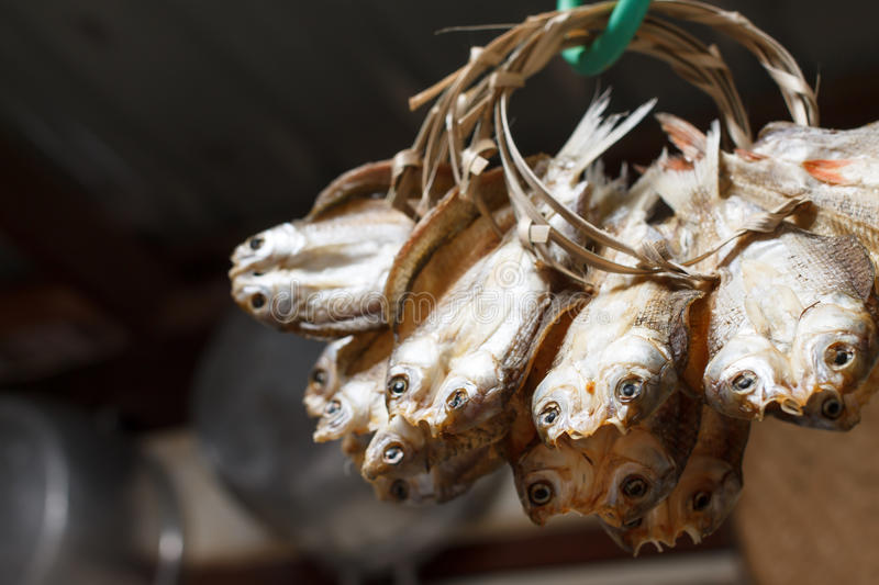 Dried fish. An image of Dried fish stock photography