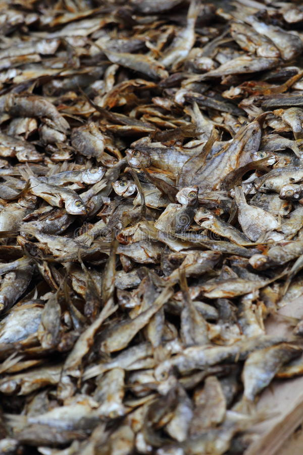 Dried Fish In Market Stock Image
