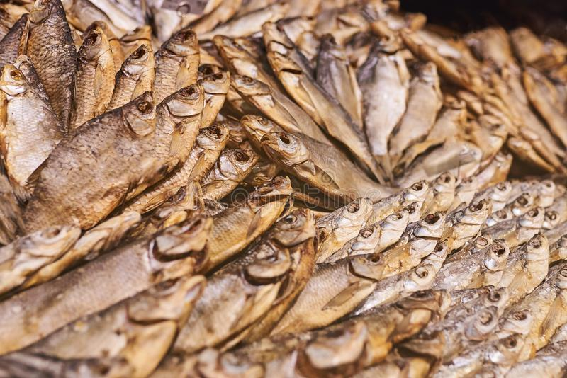 Dried fish in the store. For any purpose royalty free stock photos