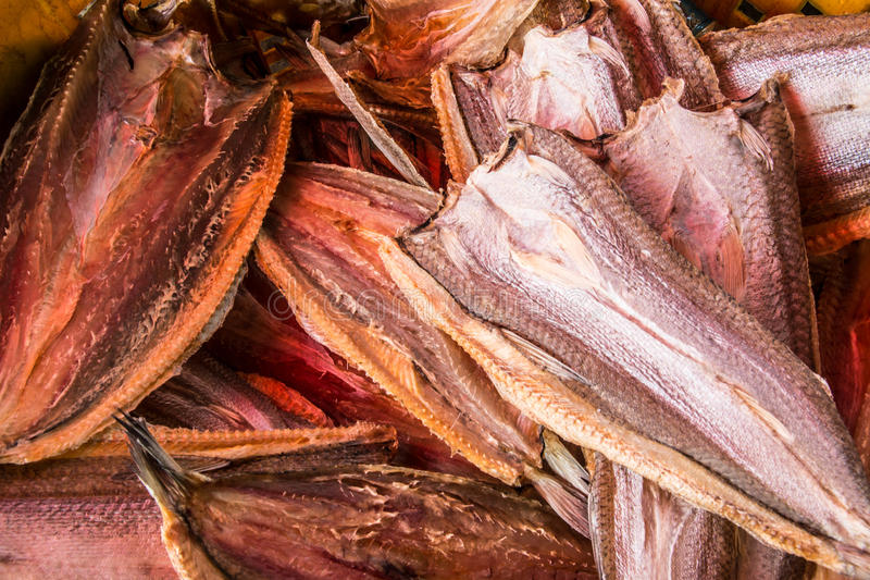 Dried fish stock image