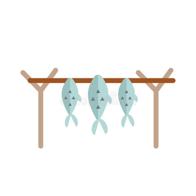 Dried fish vector illustration. stock illustration