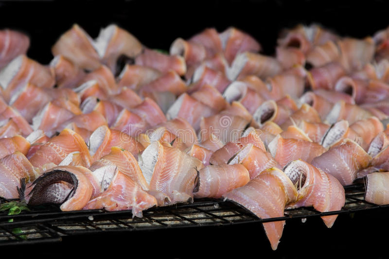 Dried fishs . royalty free stock photography