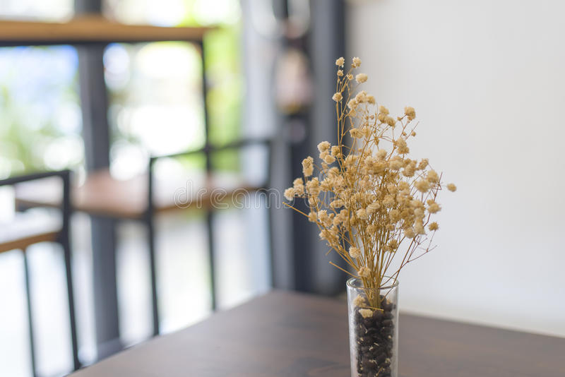 Dried Flower In Vase On Table Stock Photo Image Of Brown Garden