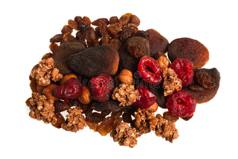Dried fruit mix stock image