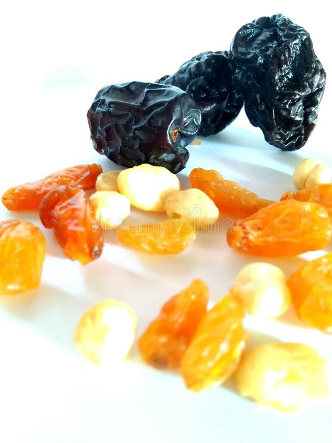 Dried fruit for snack. Healthy snack should be your habit. Dried fruit can be the choice stock images