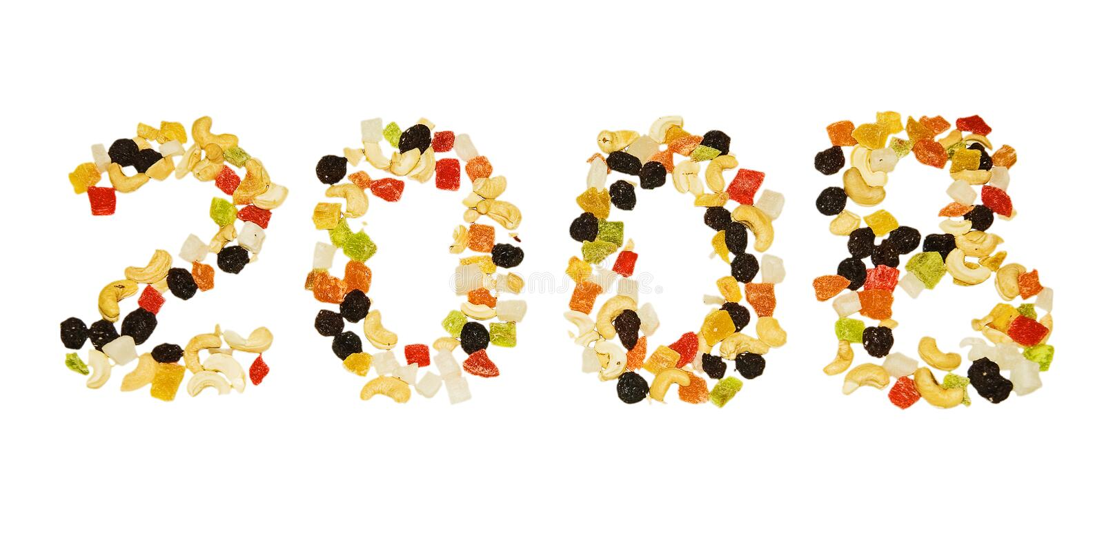 Dried fruits 2008 stock photography