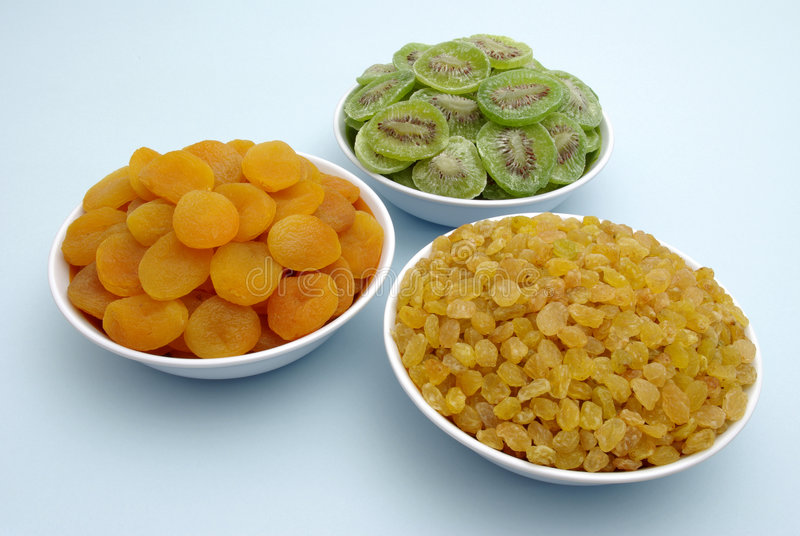 Dried fruits stock photos