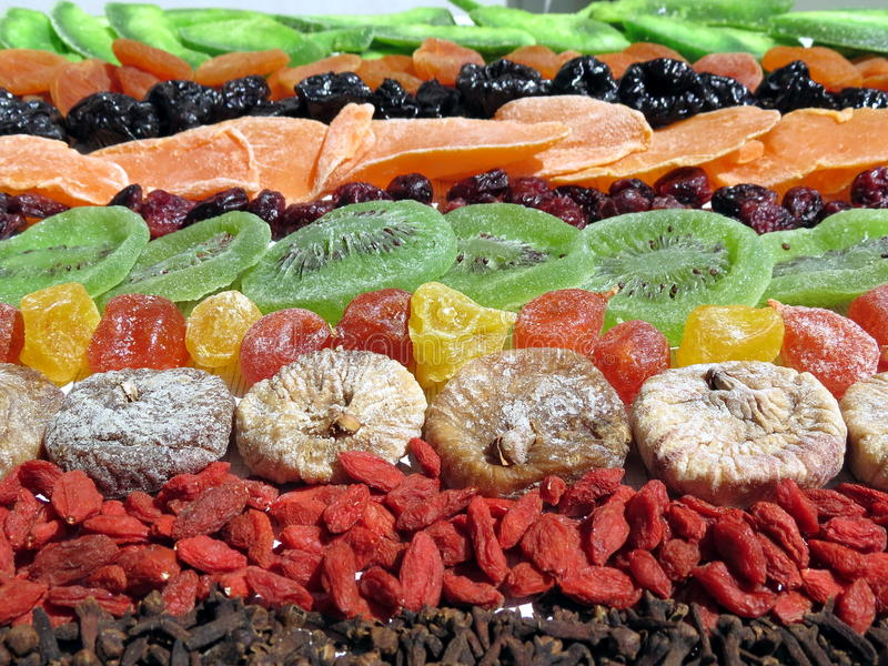 Dried fruits and clove royalty free stock photography