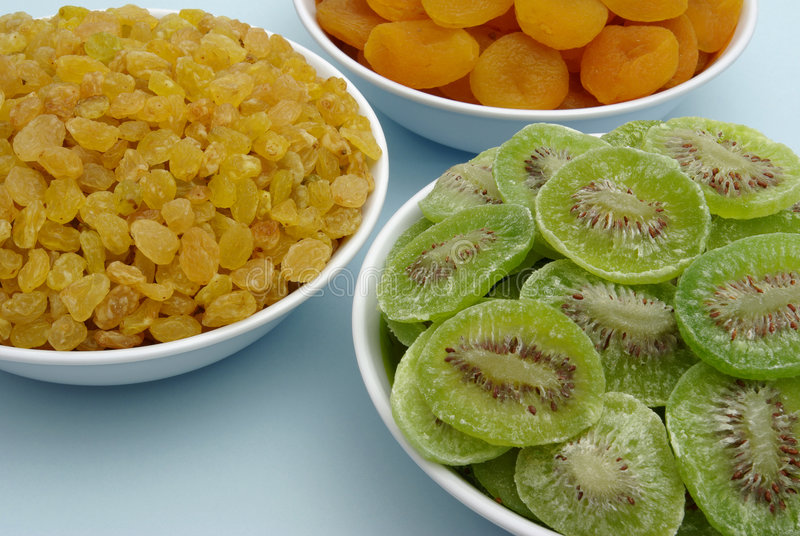 Dried fruits - detail stock photos
