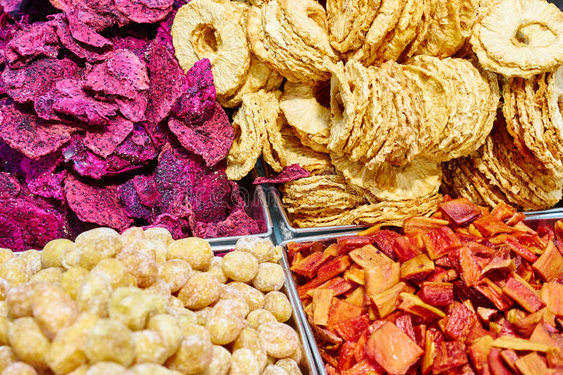 Dried fruits for healthy snack royalty free stock photo