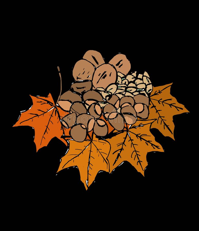 Dried fruits. Image of dried fruit of cold season stock illustration