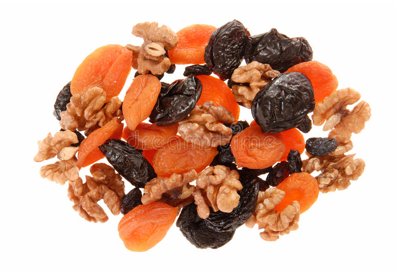 Download Dried fruits and walnuts. stock photo. Image of healthy - 27826906