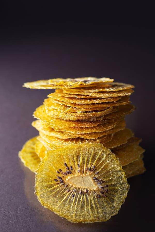 Dried kiwi fruit slices royalty free stock photos