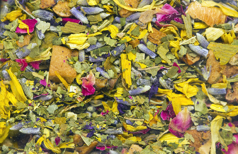Dried Herbs and Flowers Texture stock image