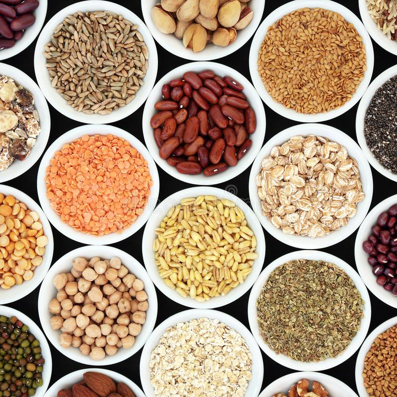 Dried High Fiber Healthy Food stock image