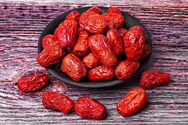 Dried jujube ,The fruit is a traditional Chinese  herb , Chinese jujube dry.Jujube. Dried jujube ,The fruit is a traditional Chinese herb , Chinese jujube dry royalty free stock photos