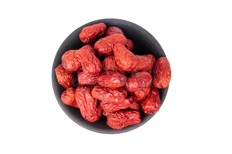 Dried jujube ,The fruit is a traditional Chinese herb , Chinese. Jujube dry.Jujube royalty free stock photography