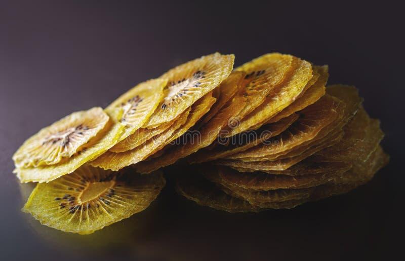 Dried kiwi slices stock photo