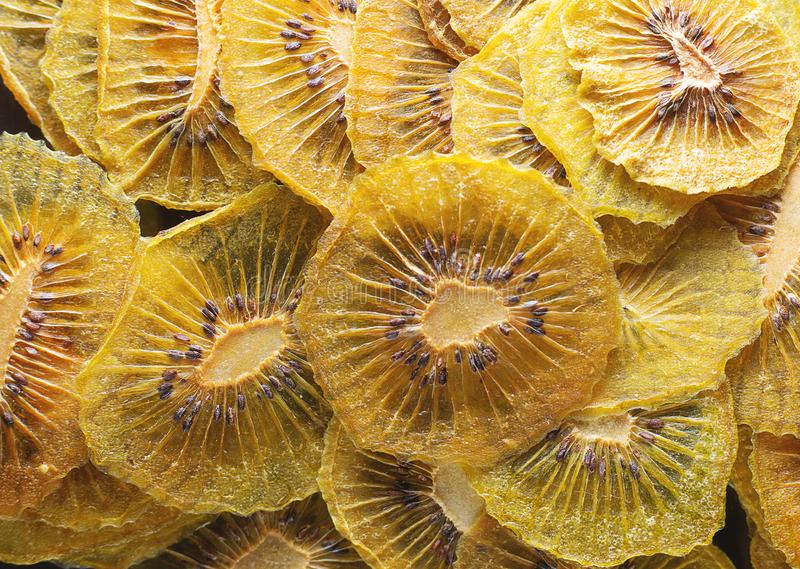 Dried kiwi texture as very nice natural background stock image