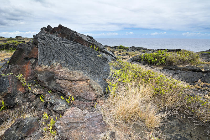 Dried lava flow stock image