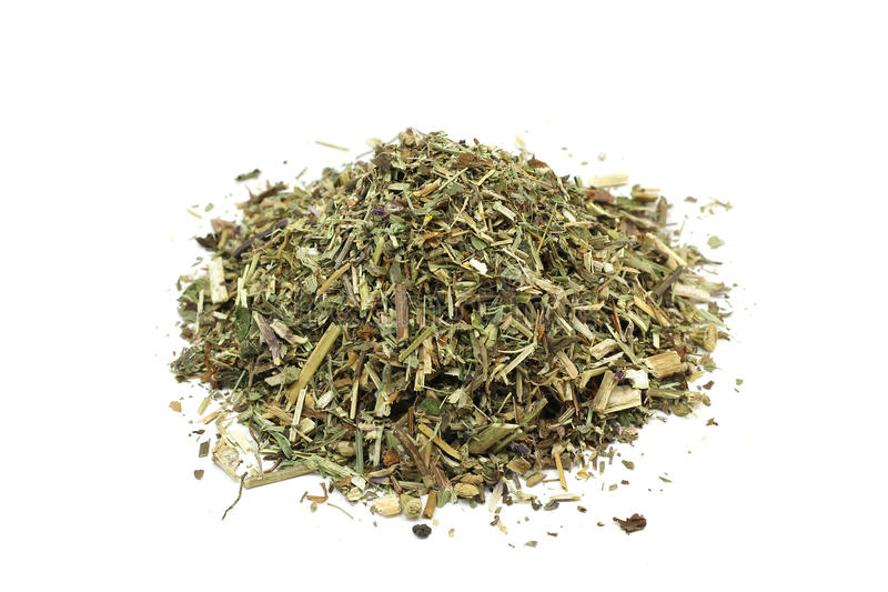 Dried leaves of mint and lemon balm royalty free stock image