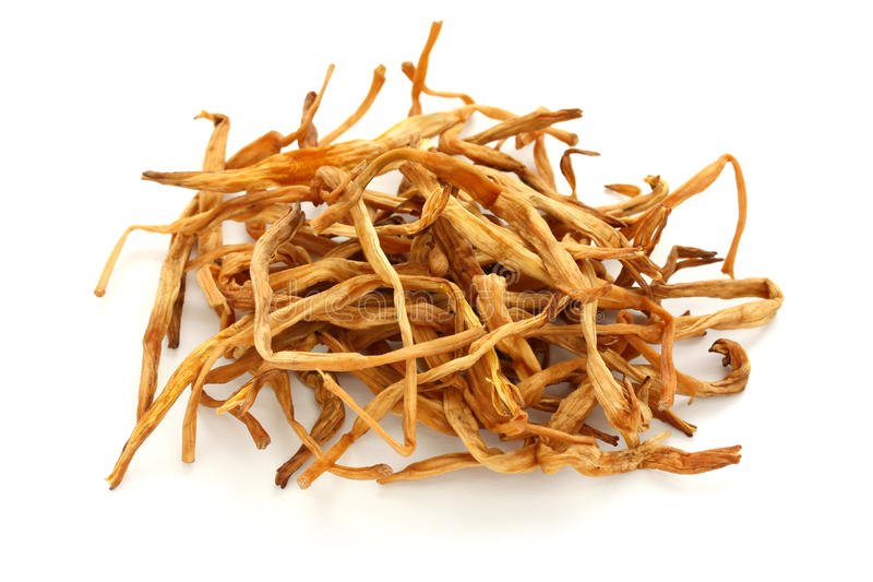 Dried lily buds, traditional chinese herbal medici stock images