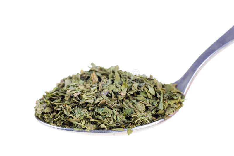 Download Dried lovage in a spoon stock photo. Image of aroma, spice - 25890000