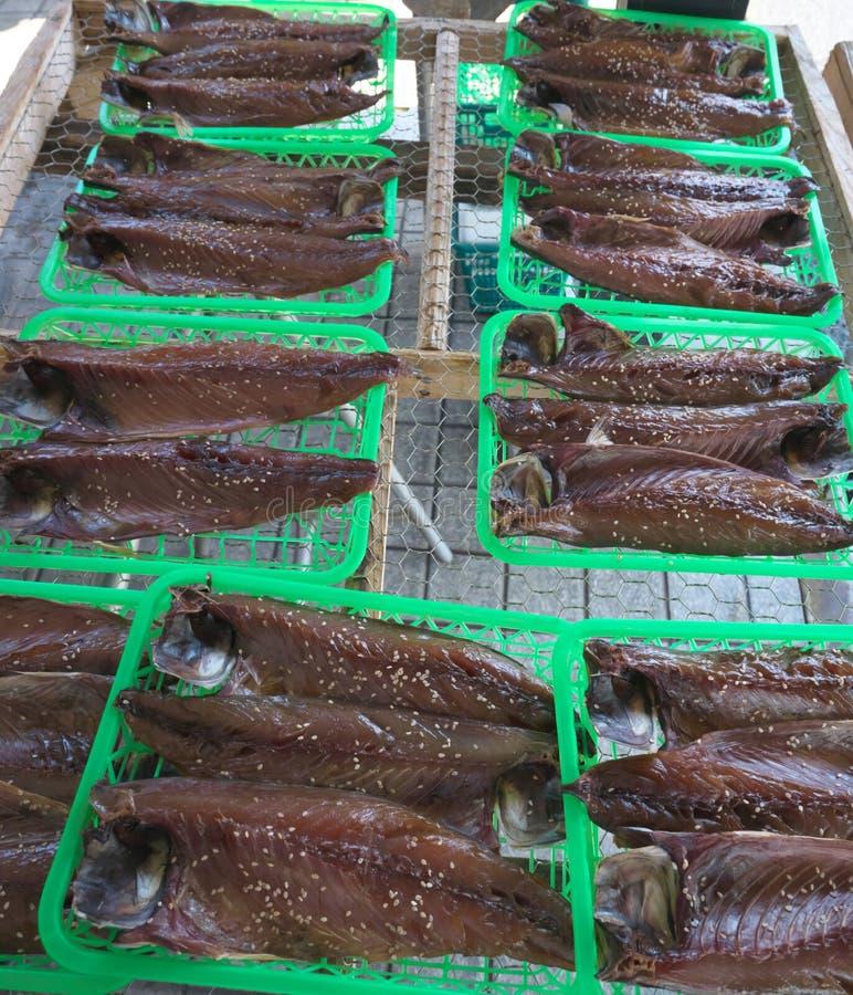 Dried mackerel royalty free stock photos