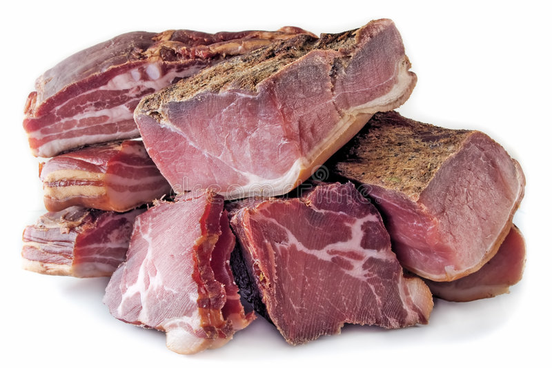 Dried Meat stock image