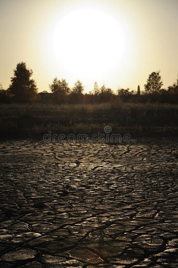 Download Dried mud at sunset stock image. Image of drying, droughty - 27118277