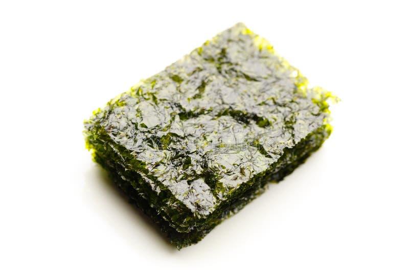 Dried nori seaweed laminaria sheets royalty free stock photos
