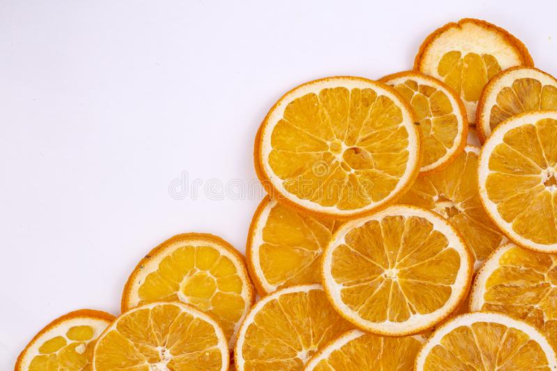 Dried orange fruit, isolated, food concept photo.  stock photography